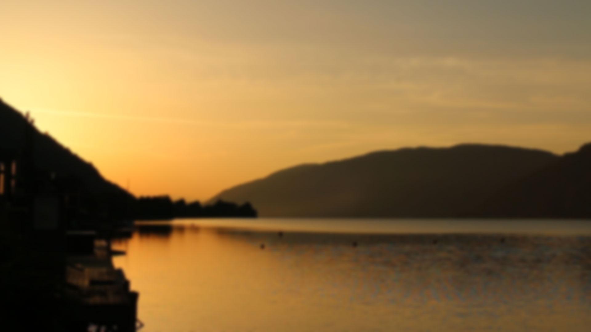 Ossiacher See Sonnenaufgang